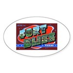 Fort Bliss Texas Oval Sticker
