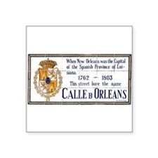 "rueorleans1a.jpg Square Sticker 3"" x 3"""