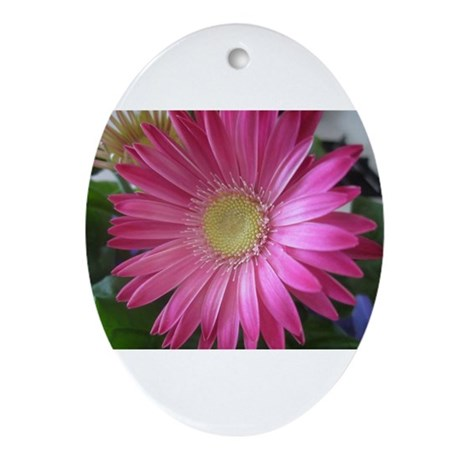 Pink Daisy Princess Ornament (Oval)