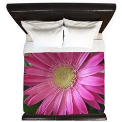 Pink Daisy Princess King Duvet