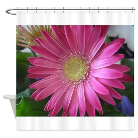 Pink Daisy Princess Shower Curtain