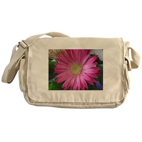 Pink Daisy Princess Messenger Bag