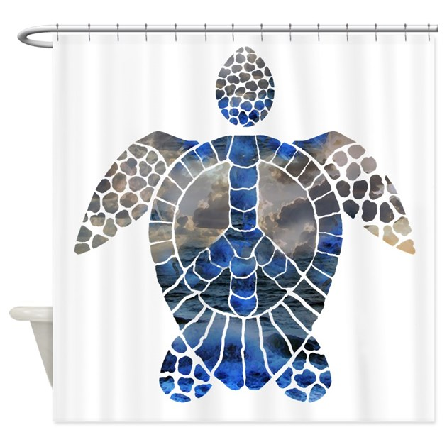 - Sea Turtle Peace Shower Curtain By Oddzodd