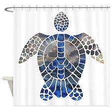 Sea Turtle Peace Shower Curtain