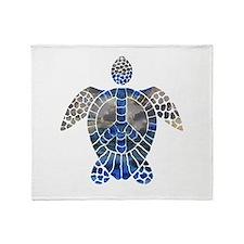 Sea Turtle Peace Throw Blanket