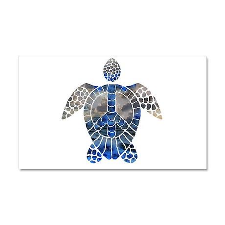 Sea Turtle Peace Car Magnet 20 x 12