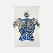 Sea Turtle Peace Rectangle Magnet