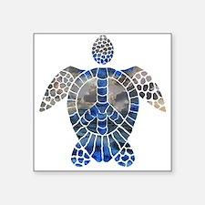 """Sea Turtle Peace Square Sticker 3"""" x 3"""""""