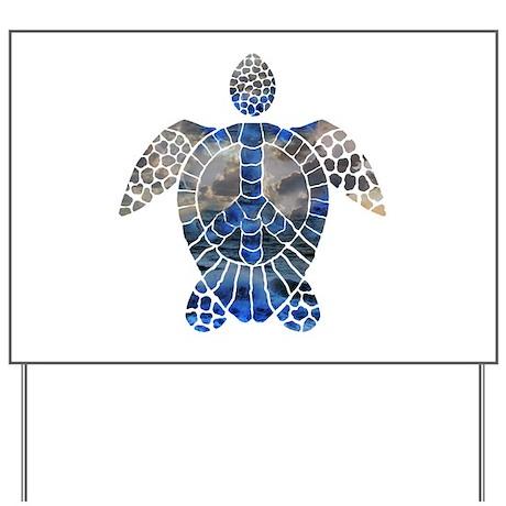 Sea Turtle Peace Yard Sign