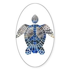 Sea Turtle Peace Decal