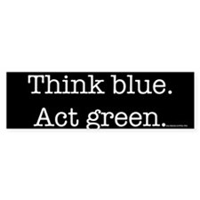 Blue/Green Bumper Bumper Sticker