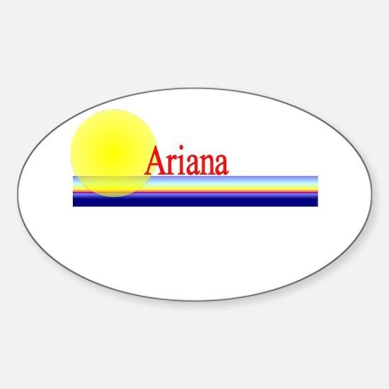 Ariana Oval Decal
