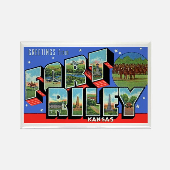 Fort Riley Kansas Rectangle Magnet