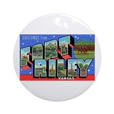 Fort Riley Kansas Ornament (Round)