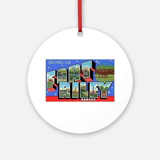Fort Riley Kansas Ornament (Round)