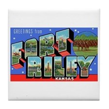 Fort Riley Kansas Tile Coaster
