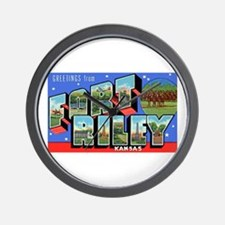 Fort Riley Kansas Wall Clock