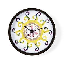 Omm Hippy Sun Wall Clock