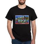 Fort Riley Kansas (Front) Black T-Shirt