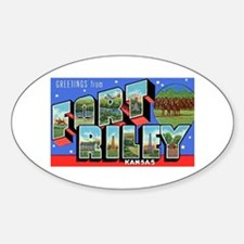 Fort Riley Kansas Oval Decal
