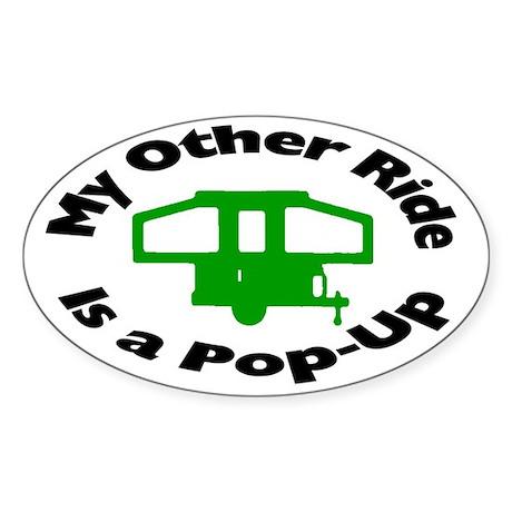 Pop-Up Trailer Sticker (Oval)