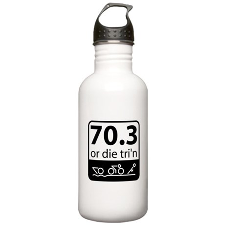 Half Ironman Or Die Stainless Water Bottle 1.0L