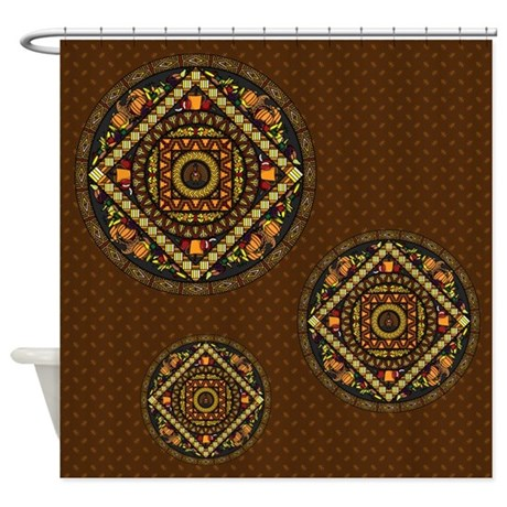 Thanksgiving Icons Shower Curtain