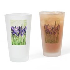 Irises Drinking Glass