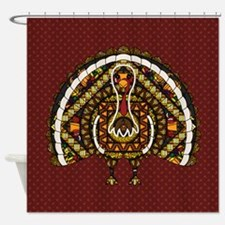 Fall Turkey Shower Curtain