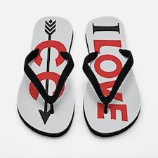 I Love Cross Country Running Flip Flops