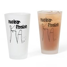 funny nuclear fission Drinking Glass