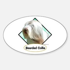 Bearded 3 Oval Decal