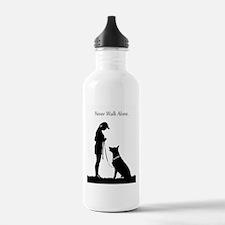German Shepherd Silhouette Water Bottle