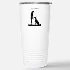 German Shepherd Silhouette Travel Mug