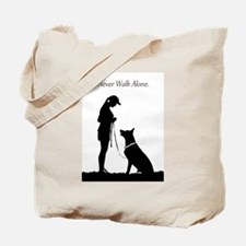 German Shepherd Silhouette Tote Bag