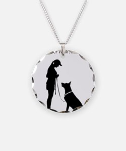 German Shepherd Silhouette Necklace