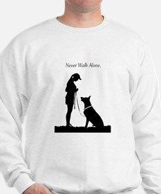 German Shepherd Silhouette Sweatshirt