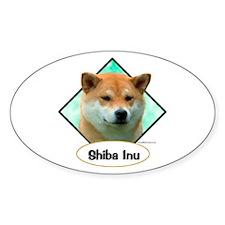 Shiba 3 Oval Decal
