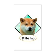 Shiba 3 Rectangle Decal