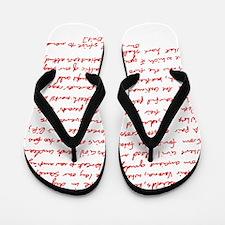 Romeo Juliet Flip Flops