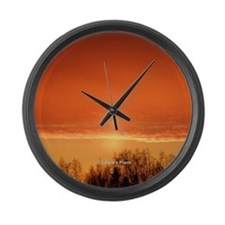 Midnight Sun Large Wall Clock