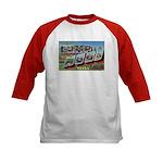 Camp Hood Texas (Front) Kids Baseball Jersey