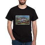 Camp Hood Texas (Front) Black T-Shirt