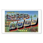 Camp Hood Texas Rectangle Sticker