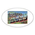 Camp Hood Texas Oval Sticker