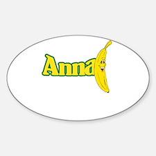 Anna Banana Sticker (Oval)
