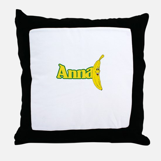 Anna Banana Throw Pillow