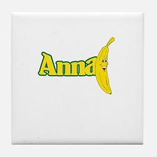 Anna Banana Tile Coaster