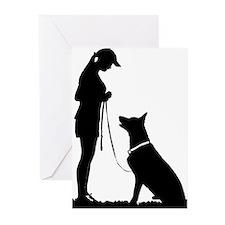 German Shepherd Obedience Greeting Cards (Pk of 20
