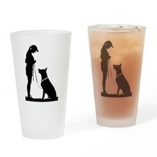 German Shepherd Obedience Drinking Glass